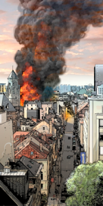 Fire in Brussels