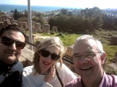 Dans les ruines de l'antique Carthage